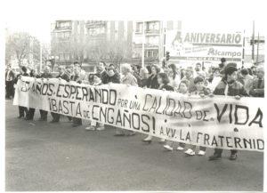 Manifestación Fraternidad